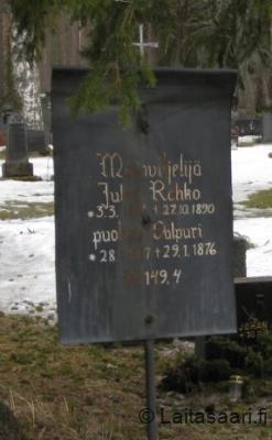Juho ja Valpuri Rahkon hauta