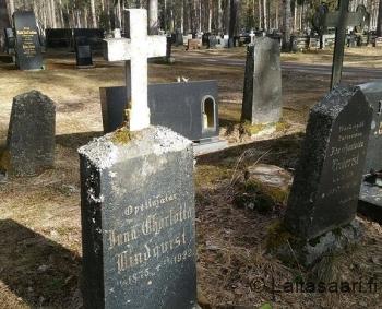 Opettaja Lindqvistin hauta