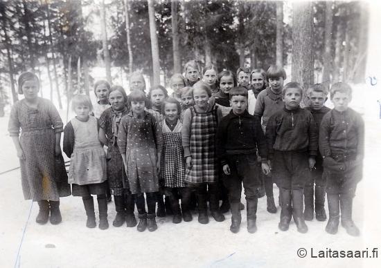 Sanginjoen koululaisia 1937