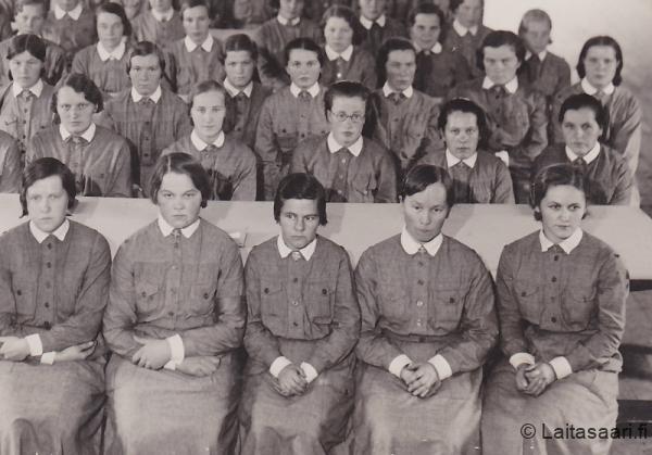 Lääkintä- ja muonituslottien piirikurssi Tyrnävällä 1937