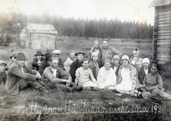 Pirttijärvellä juhannuksena 1930