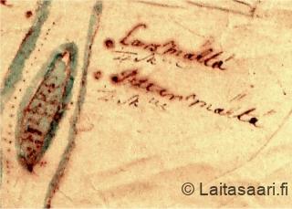Määtän taloja ja Määtän saari (1739)