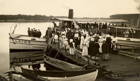 Laine lähdössä Muhokselta kesällä 1919